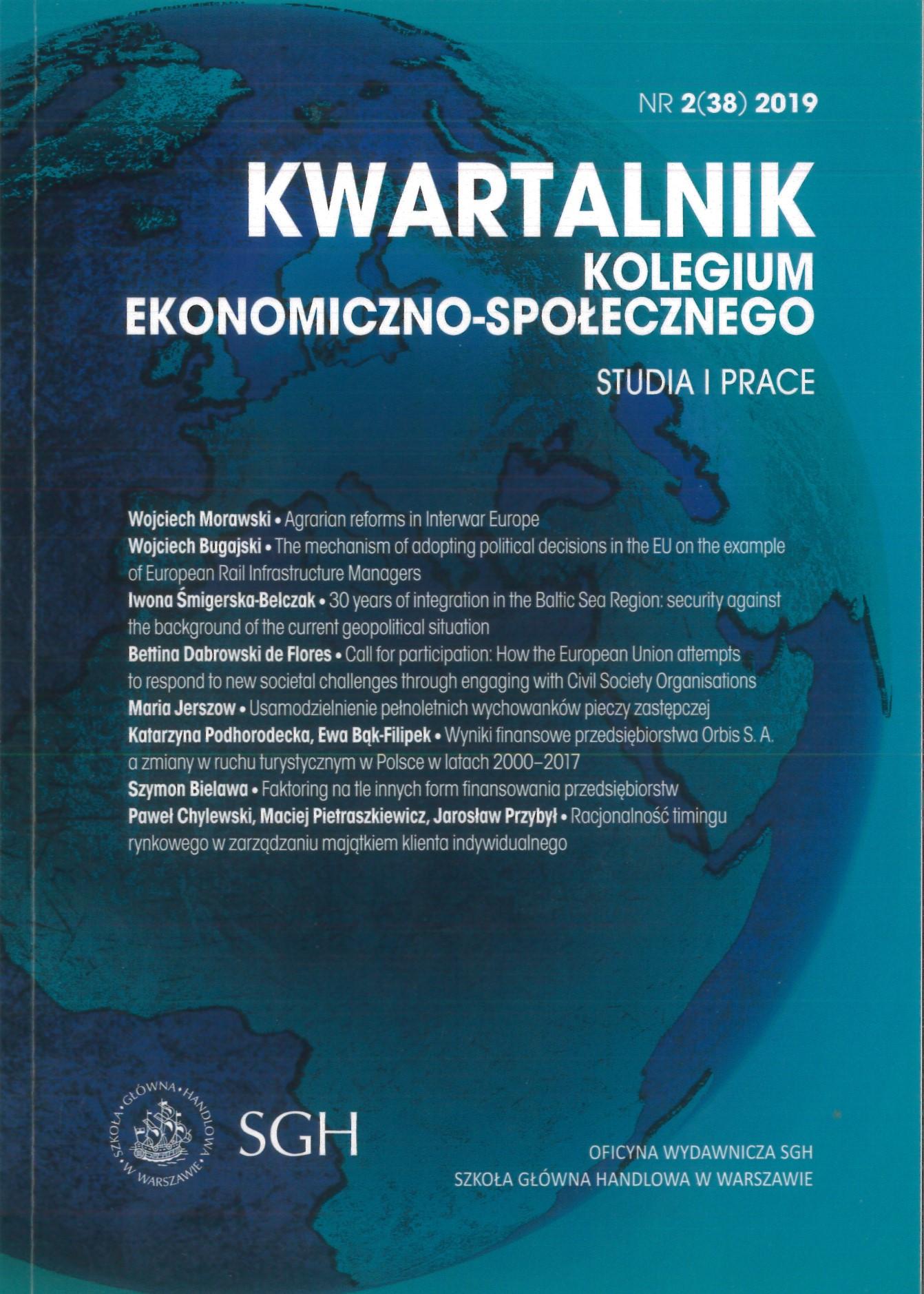 Kwartalnik Kolegium Ekonomiczno–Społecznego. Studia i Prace