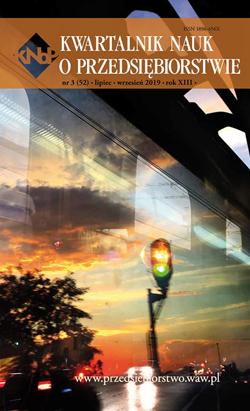 Kwartalnik Nauk o Przedsiębiorstwie nr 3 (52) lipiec - wrzesień 2019